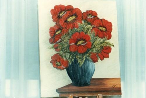 **   LES PAVOTS D'ORNEMENT de Coloris Roses où Rouges. **