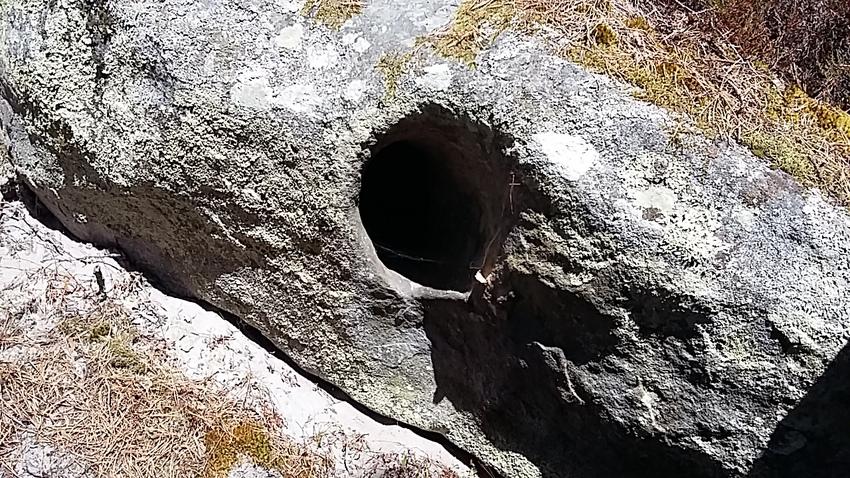 la descente du plateau du rocher de la tortue