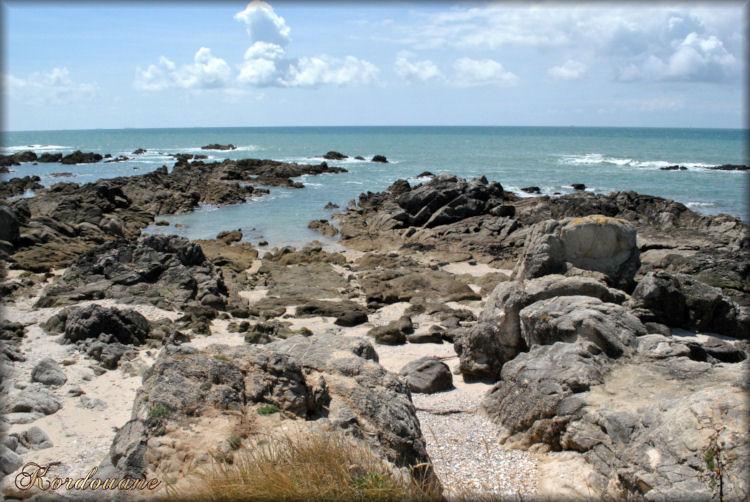 Photo de la côte sauvage entre Batz/mer et Le Croisic