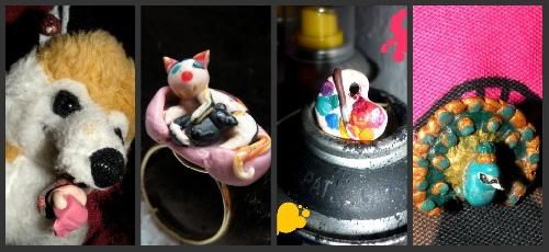 """Pin's """"Du PQ pour mon troutrou"""", Bagues Kit Cat, Palette, et, Broche La Grande Roue"""