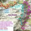 carte des 3 zones de la montagne d'Estaës