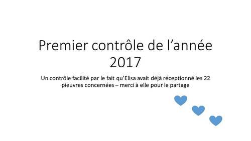 Janvier 2017 # contrôle 6