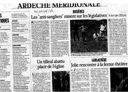 Dauphiné Libéré du 04-06-12