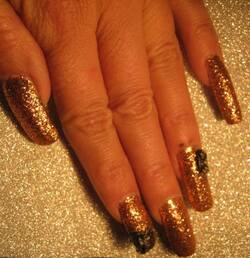 Nail art 3D : Nouvel an Bling-bling