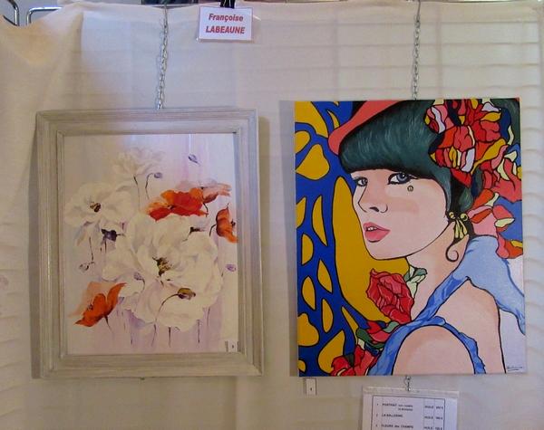Les peintres des Amis du Châtillonnais ont exposé leurs toiles dans l'église de Bellenod sur Seine dimanche 16 septembre