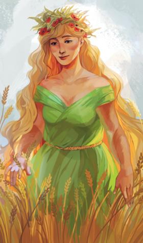 Déméter, déesse de l'agriculture