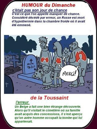 """Résultat de recherche d'images pour """"toussaint humour"""""""