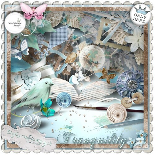 "kit ""Tranquility"" une collaboration de Mimiconcept et Scrapofangel"