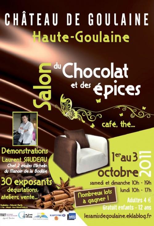 2e Salon du Chocolat et des Épices       les 1,2 et 3 octobre 2011