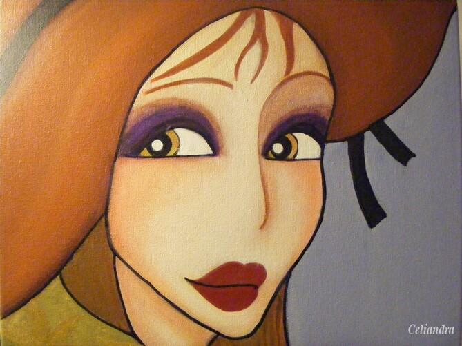 peinture: portrait  de Belle