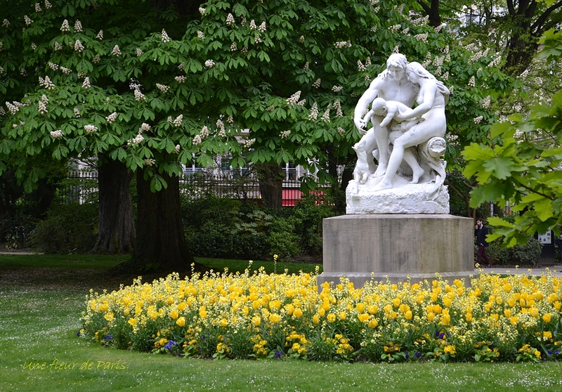 Jardin du Luxembourg : Joies de la famille de Horace DAILLION