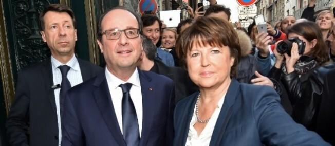 François Hollande lors de son arrivée à Lille, samedi 22 novembre 2014.
