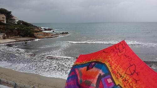 Parapluie d'art pièce unique