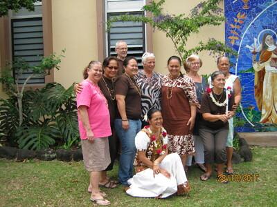 de Tahiti - Fr. André Chicoine, ofm cap en visite pastorale