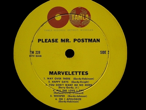 "The Marvelettes : Album "" Please Mr. Postman "" Tamla Records TM 228 [ US ]"