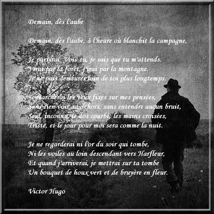Demain Dès Laube Poème De Victor Hugo Chezmamielucette