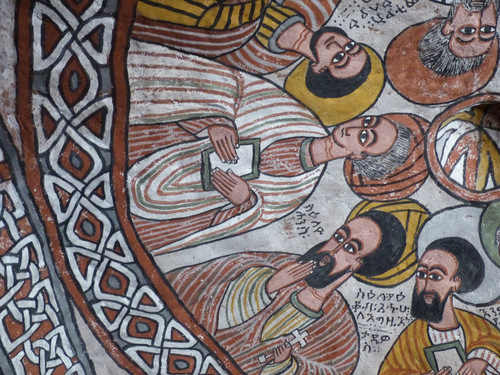 l'église crypte de Enda Aboun Yemata (Guh); les peintures intérieures;suite et fin