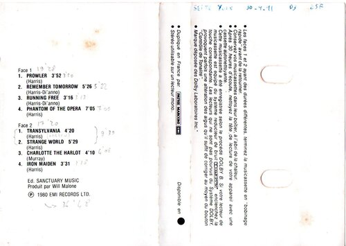 Ajout cassette: Iron Maiden