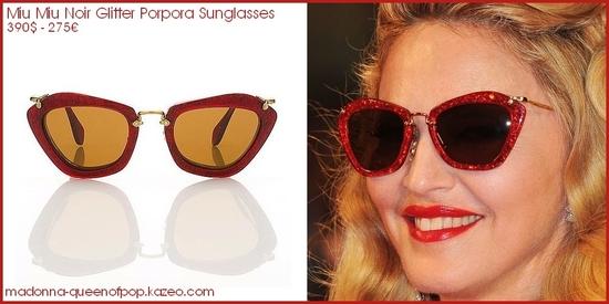 miu miu noir glitter porpora sunglasses - madonna