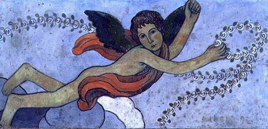 Charles Filiger, Ange gardien avec une guirlande