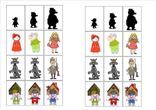 Les contes traditionnels : Petit chaperon rouge - Boucle d'or - Trois petits cochons