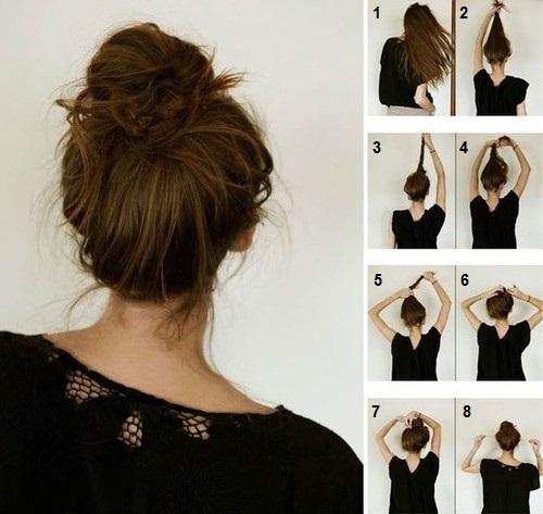 Tutoriel coiffure cheveux mi long facile