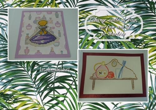 """Echange carte thème """"salle de bain , parfum and co"""""""