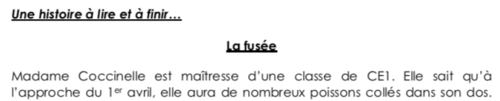 Histoires à suivre (production d'écrits CE1-CE2)