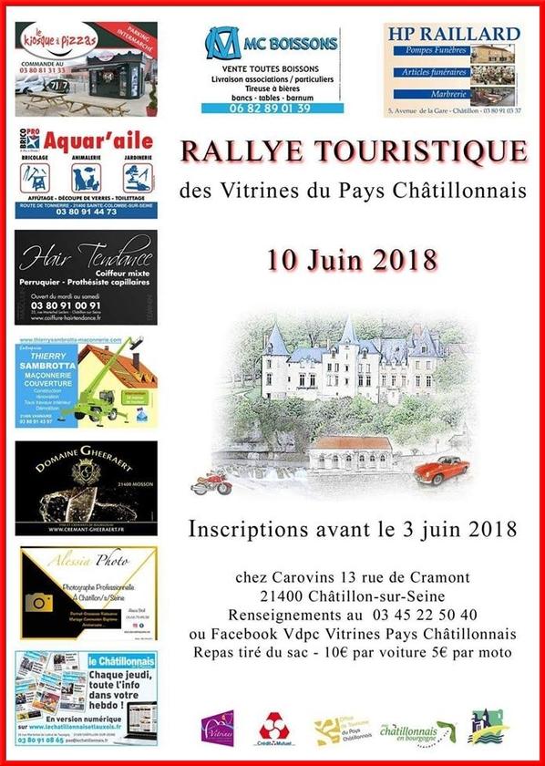 Les Vitrines Châtillonnaises organisent un rallye...