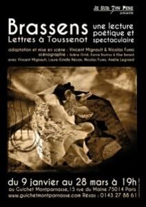 affiche Toussenot hommage à Brassens
