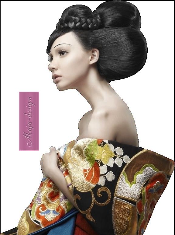 coiffure japonaise chignon