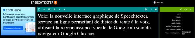 Speechtexter : nouvelle interface graphique, plus conviviale