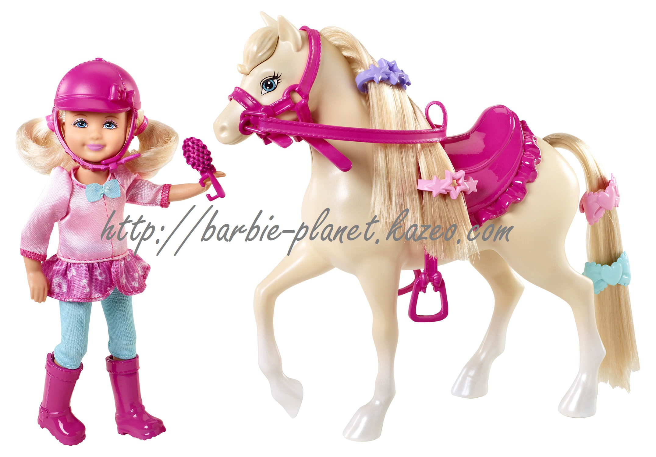 poupe chelsea barbie and her sisters in a pony tale et son cheval - Barbie Cheval