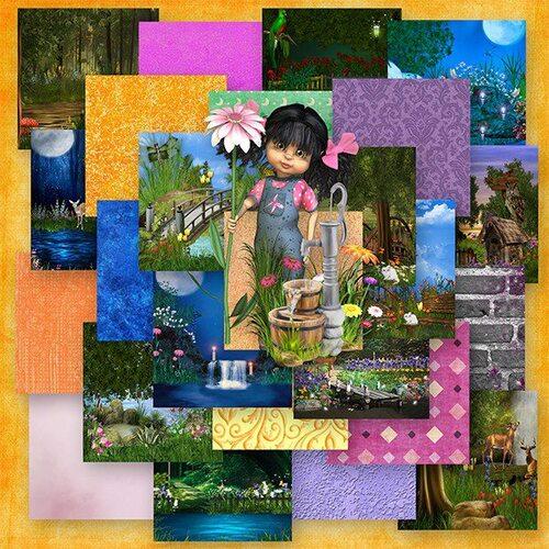Kit Quiet fairy garden une collaboration de Josycréations et de Desclics