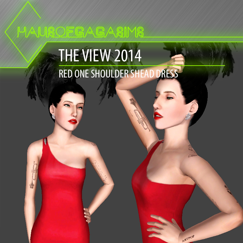 THE VIEW 2014 RED ONE SHOULDER SHEATH DRESS
