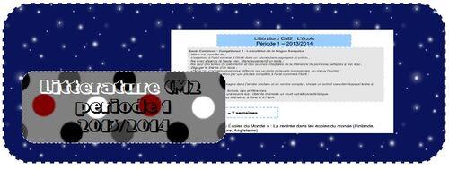 Littérature CM2 - période 1 : L'école