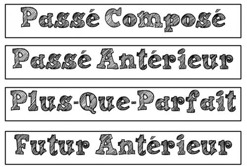 français : les temps composés - affichages - CM