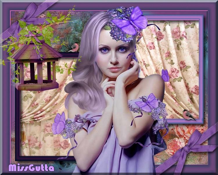 Joli Violet défi pour amie Kikoonette !!