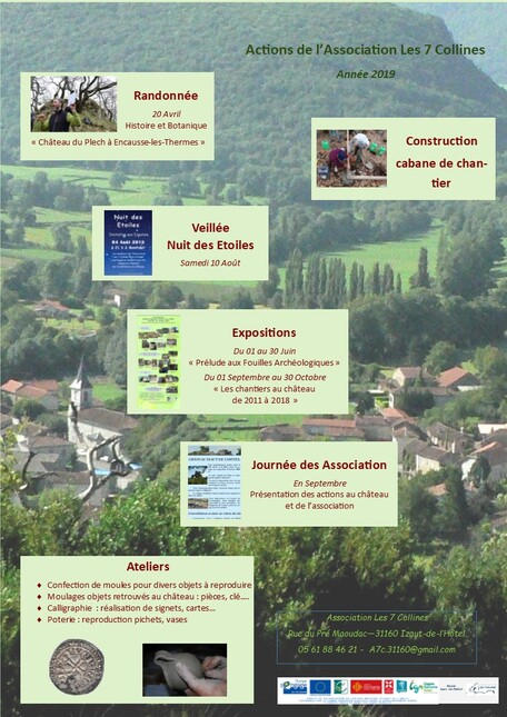 2019 : Programme des actions de l'association Les 7 Collines