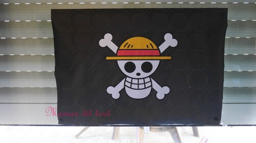drapeau one piece diy anniversaire
