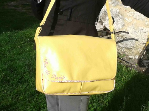 sac cartable 'banana split""