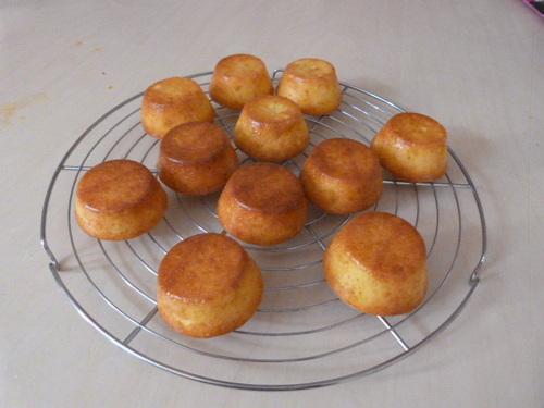 Minis moelleux au citron