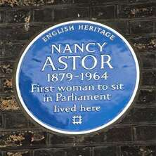 Lady Nancy Astor First Woman in Parliament (100th anniversary)