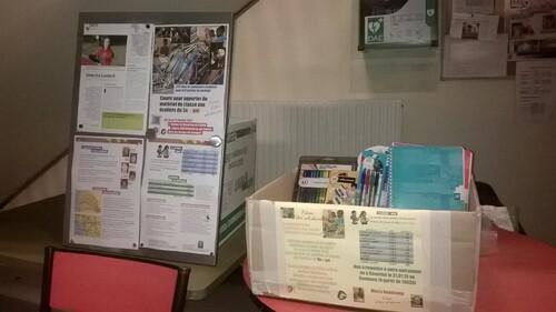 Collecte de fourniture au Gymnase de Saint-Arnoult en Yvelines