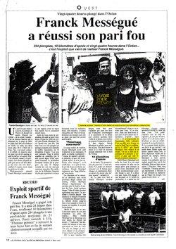 """1ère action """" Un record d'endurance contre un virus endurant """" au profit des associations de lutte contre le SIDA à La Réunion, 9/10 mai 1992."""