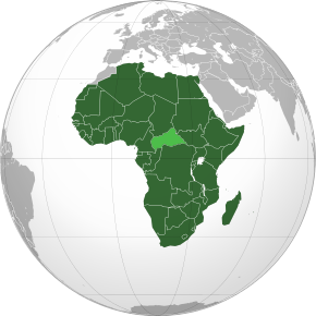 Description de l'image African Union (orthographic projection).svg.