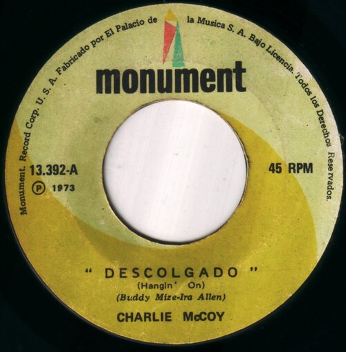 CHARLIE McCOY - Descolgado (Hangin´ On)
