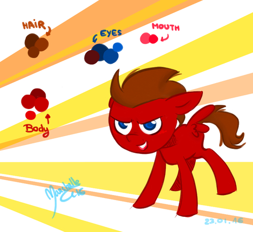 MLP OC- Rushy, my bro' is a CMC !