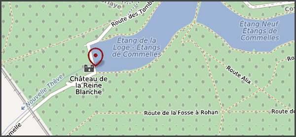 Château de la Dame Blanche et étangs de Comelles à Coye la Forêt (Oise)