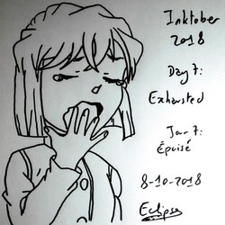 Jour 7 Inktober 2018 : Exhausted (Épuisé)
